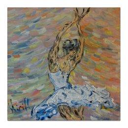 """Холст 50x50 """"Вдохновение"""" - девушка, большой, балерина, вдохновенье"""