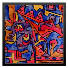 "Холст 50x50 ""cbm`db==[]0`"" - арт, узор, абстракция, фигуры, текстура"