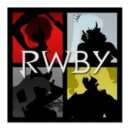 """Холст 50x50 """"RWBY """" - аниме, rwby, red white black yellow, красный белый черный желтый, ruby weiss blake yang"""