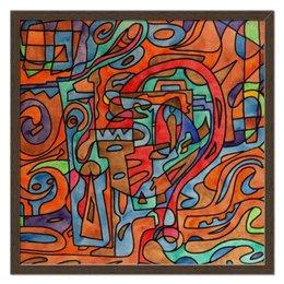 """Холст 50x50 """"QXX`A0.,H33"""" - арт, узор, абстракция, фигуры, текстура"""