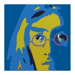 "Холст 50x50 ""Джон Леннон "" - портрет, the beatles, битлз, john lennon, джон леннон, ливерпульская четверка"