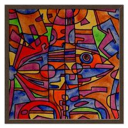 """Холст 50x50 """"nj2]0-=-.'11"""" - арт, узор, абстракция, фигуры, текстура"""