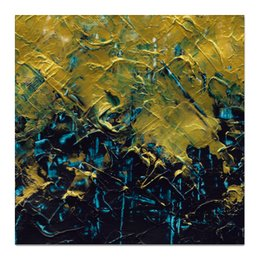 "Холст 50x50 ""Abstract"" - картина, разводы, абстракция, живопись, флюид"