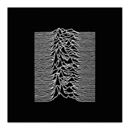 "Холст 50x50 ""Joy Division"" - joy division, unknown pleasures, группы, ian curtis, пост-панк"