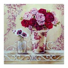 """Холст 50x50 """"Цветы"""" - цветы, дом"""