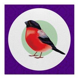 """Холст 50x50 """"Рождественский дух"""" - яркие, день рождения, новогодние, дизайнерские, с птицами"""