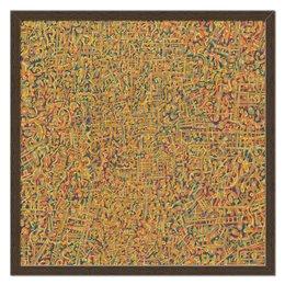 """Холст 50x50 """"Сандал"""" - арт, узор, абстракция, фигуры, текстура"""