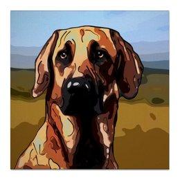 """Холст 50x50 """"Риджбек"""" - собака, животное"""