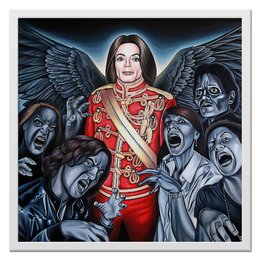 "Холст 50x50 ""Michael Jackson"" - майкл джексон, попса, король поп-музыки, триллер, поп музыка"