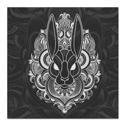 "Холст 50x50 ""Белый кролик"" - узоры, заяц, алиса, кролик"