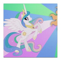 "Холст 50x50 ""Princess Celestia Color Line"" - magic, celestia, friendship, princess"