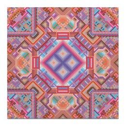 """Холст 50x50 """" с абстрактным рисунком"""" - узор, фиолетовый, абстракция, фигуры, текстура"""