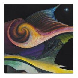 """Холст 50x50 """"Космическое животное"""" - космос, ночь, картина, интерьер, краска"""