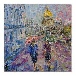 "Холст 50x50 ""Питерский дождь"" - девушки, питер, улица, дождь, rain, санкт-петербург, saint petersburg"