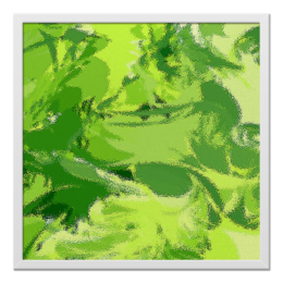 "Холст 50x50 ""Яркий зеленый"" - арт, стиль, офис, в подарок, оригинально, креативно, декор"