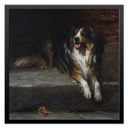 """Холст 50x50 """"Колли (картина Артура Вардля)"""" - картина, собака, артур вардль, колли, живопись"""