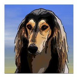 "Холст 50x50 ""Салюки"" - животные, собаки, борзая, салюки"