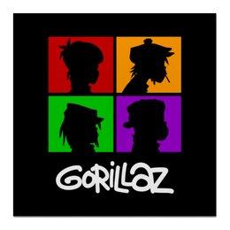 """Холст 50x50 """"Gorillaz"""" - gorillaz, гориллаз, музыка, группы"""