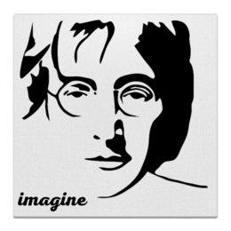 """Холст 50x50 """"Джон Леннон"""" - битлз, кумир, легенда, леннон, картина"""