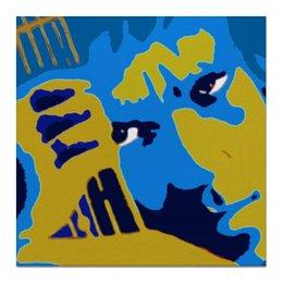"""Холст 50x50 """"Владимир Высоцкий"""" - музыка, портрет, высоцкий, владимир высоцкий"""