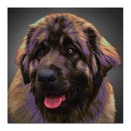 "Холст 50x50 ""Леонбергер"" - собака, домашнее животное, леонбергер, leonberger"
