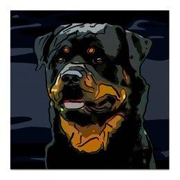 """Холст 50x50 """"Ротвейлер"""" - животные, собаки, ротвейлер"""