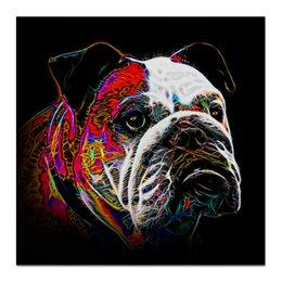 """Холст 50x50 """"Английский бульдог"""" - английский бульдог, бульдог, живая природа, собака, english bulldog"""