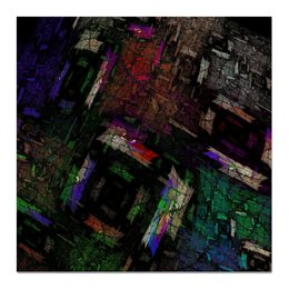 "Холст 50x50 ""Абстрактный дизайн"" - графика, абстракция, фигуры, авангард"