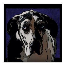 """Холст 50x50 """"Немецкий Дог"""" - собаки, животные, дог, немецкий дог, датский дог"""