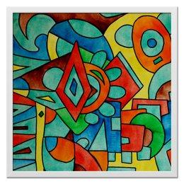 "Холст 50x50 ""z//;vcw`0m0"" - арт, узор, абстракция, фигуры, текстура"