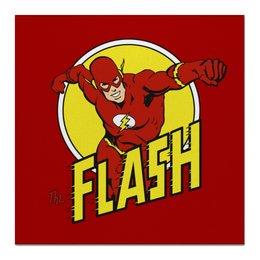 "Холст 50x50 ""Флэш "" - flash, комиксы, супергерои, флэш"
