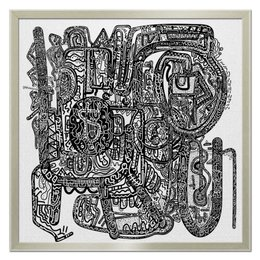 "Холст 50x50 ""Петрушкин Лабиринт"" - арт, узор, абстракция, фигуры, текстура"