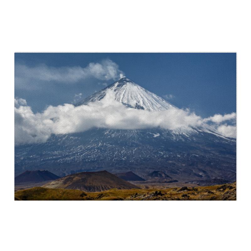 Холст 50x75 Printio Камчатка, осенний пейзаж, извержение вулкана пазл магнитный 18 x 27 126 элементов printio остров