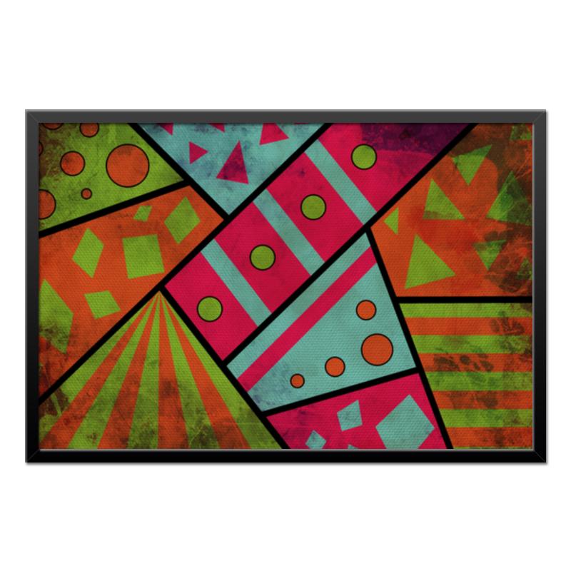 Холст 50x75 Printio Яркая геометрия бульонница фарфоровый путь геометрия 540 мл геометрический узор