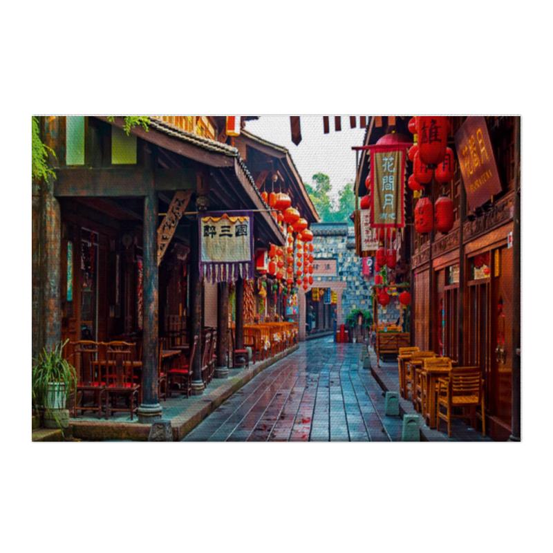 Холст 50x75 Printio Китайский райончик casa rinaldi паста пенне ригате из калабрии ручной работы 500 г