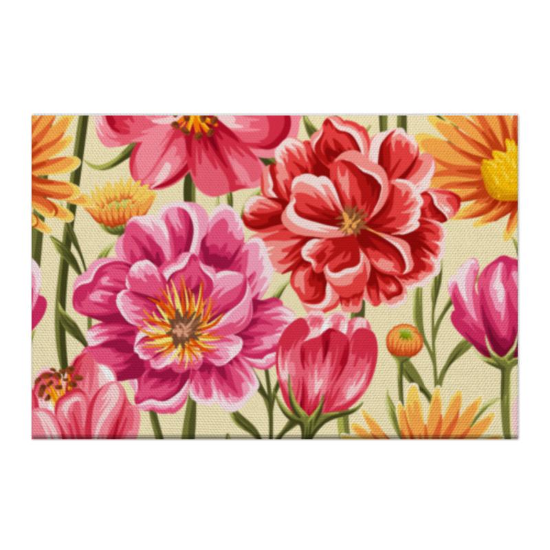 Холст 50x75 Printio Садовые цветы