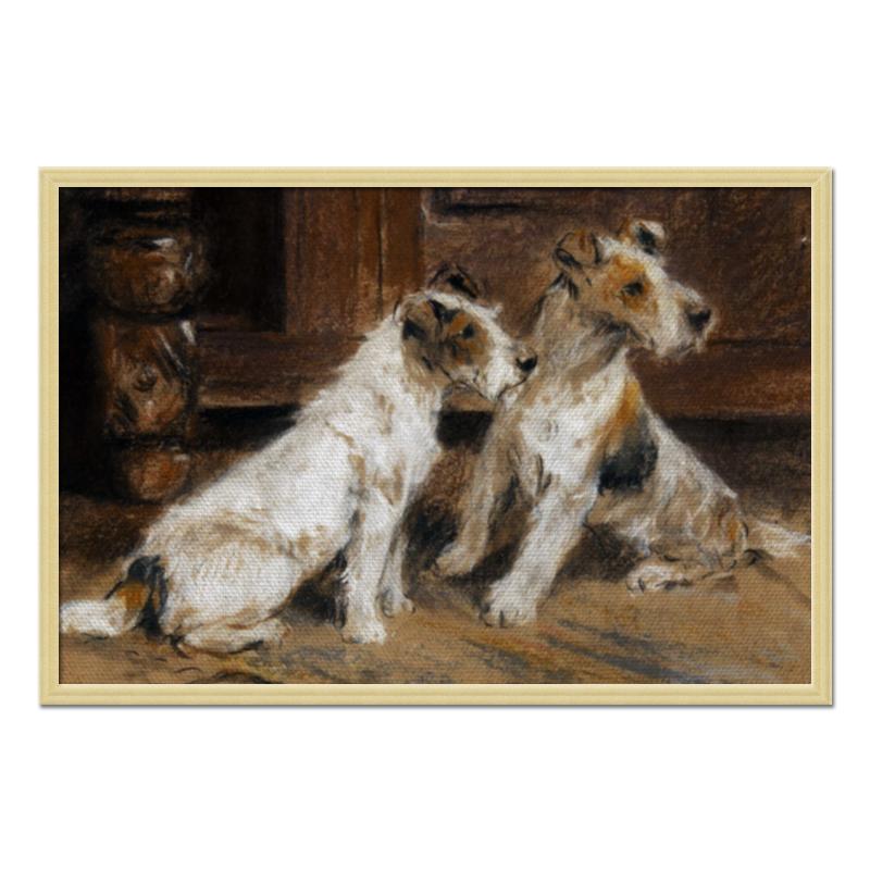 Холст 50x75 Printio 2018 год желтой собаки репродукция ржавый рассвет 500х700мм холст
