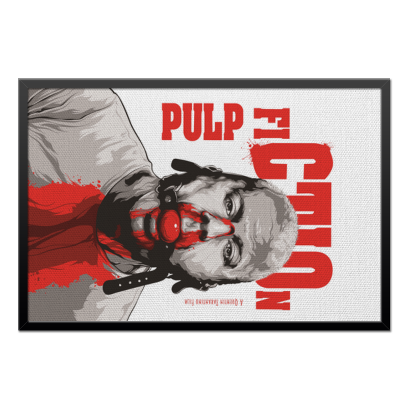 Холст 50x75 Printio Pulp fiction (брюс уиллис) тетрадь на клею printio pulp fiction брюс уиллис