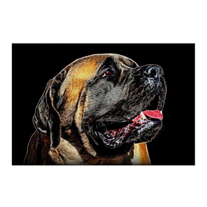 Холст 50x75 Printio Английский мастиф собаки от а до я испанский мастиф