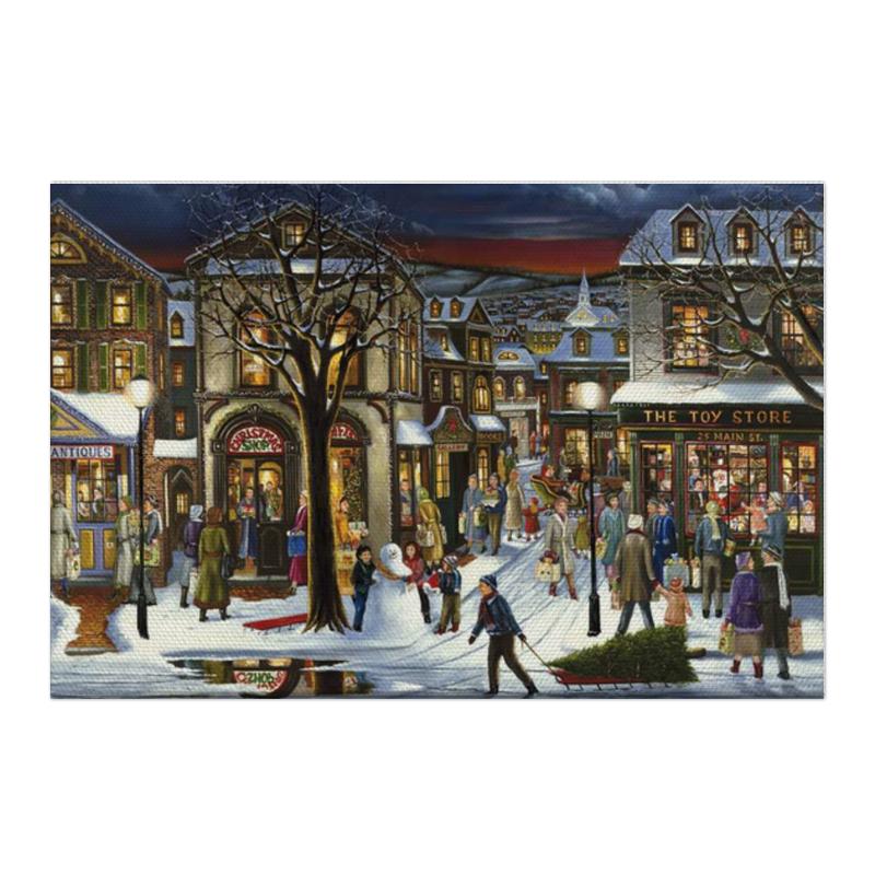 Холст 50x75 Printio Новогоднее настроение книжки шнуровки новогоднее происшествие
