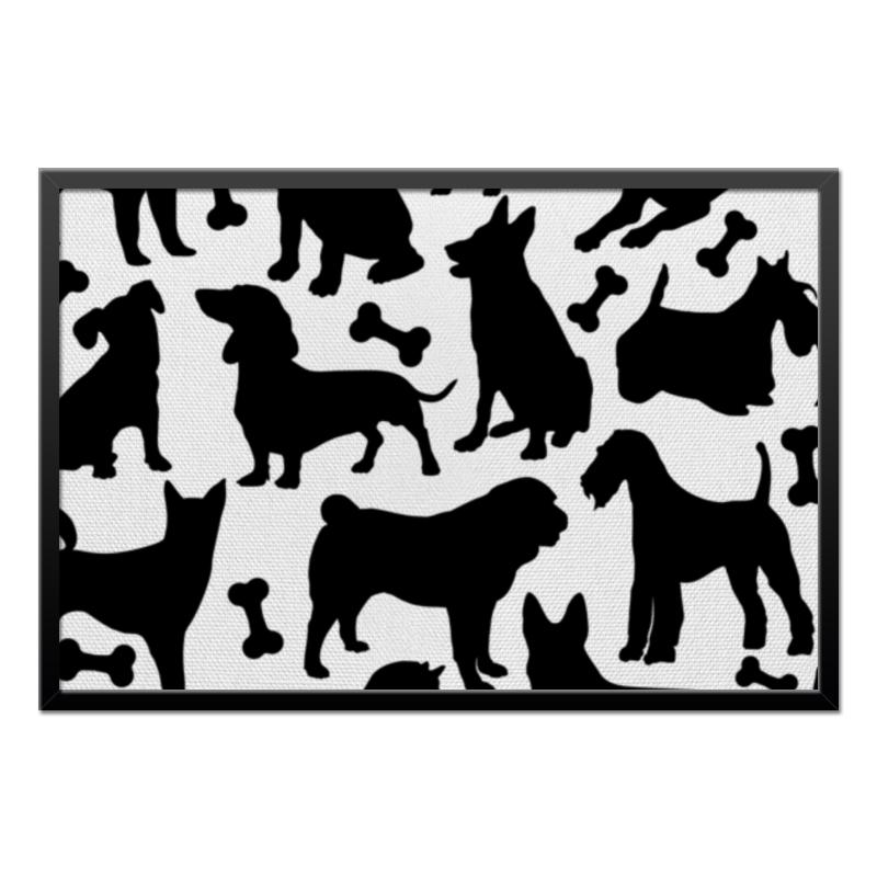 Холст 50x75 Printio Собаки миска для собаки lula чёрная 1201837