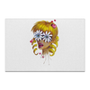 """Холст 50x75 """"Без ума от цветов"""" - любовь, девушка, цветы, сердца, блондинка"""