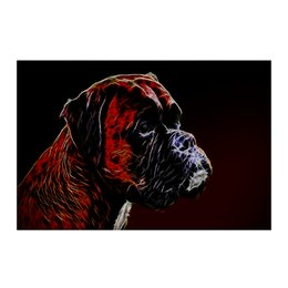 "Холст 50x75 ""Немецкий Босер"" - боксер, живая природа, немецкий боксер, собака, boxer"
