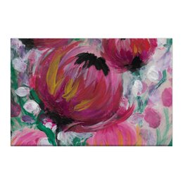 """Холст 50x75 """"Полевые цветы"""" - лето, цветы, весна, розовый, подарок"""