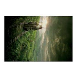"Холст 50x75 ""Гэндальф"" - кино, властелин колец, хоббит, hobbit, фродо"