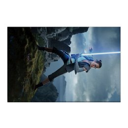 "Холст 50x75 ""Звездные войны - Рей"" - кино, фантастика, star wars, звездные войны, дарт вейдер"