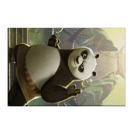 "Холст 50x75 ""Кунг-фу панда"" - медведь, мультфильм, панда, приключения, kung-fu panda"