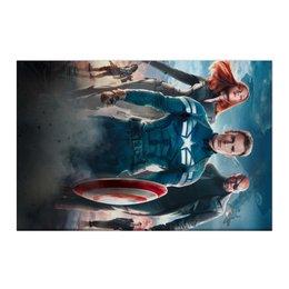 """Холст 50x75 """"Мстители"""" - комиксы, мстители, avengers, марвел, капитан америка"""