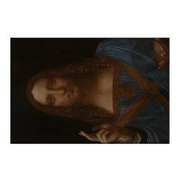 "Холст 50x75 ""Спаситель мира Леонардо да Винчи"" - арт, картина, живопись, леонардо да винчи, спаситель мира"