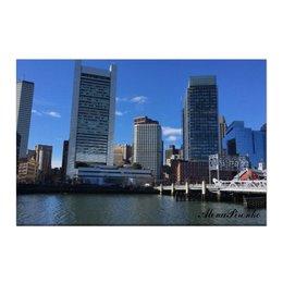 """Холст 50x75 """"Бостон"""" - сша, путешествие, небоскребы, большойгород"""